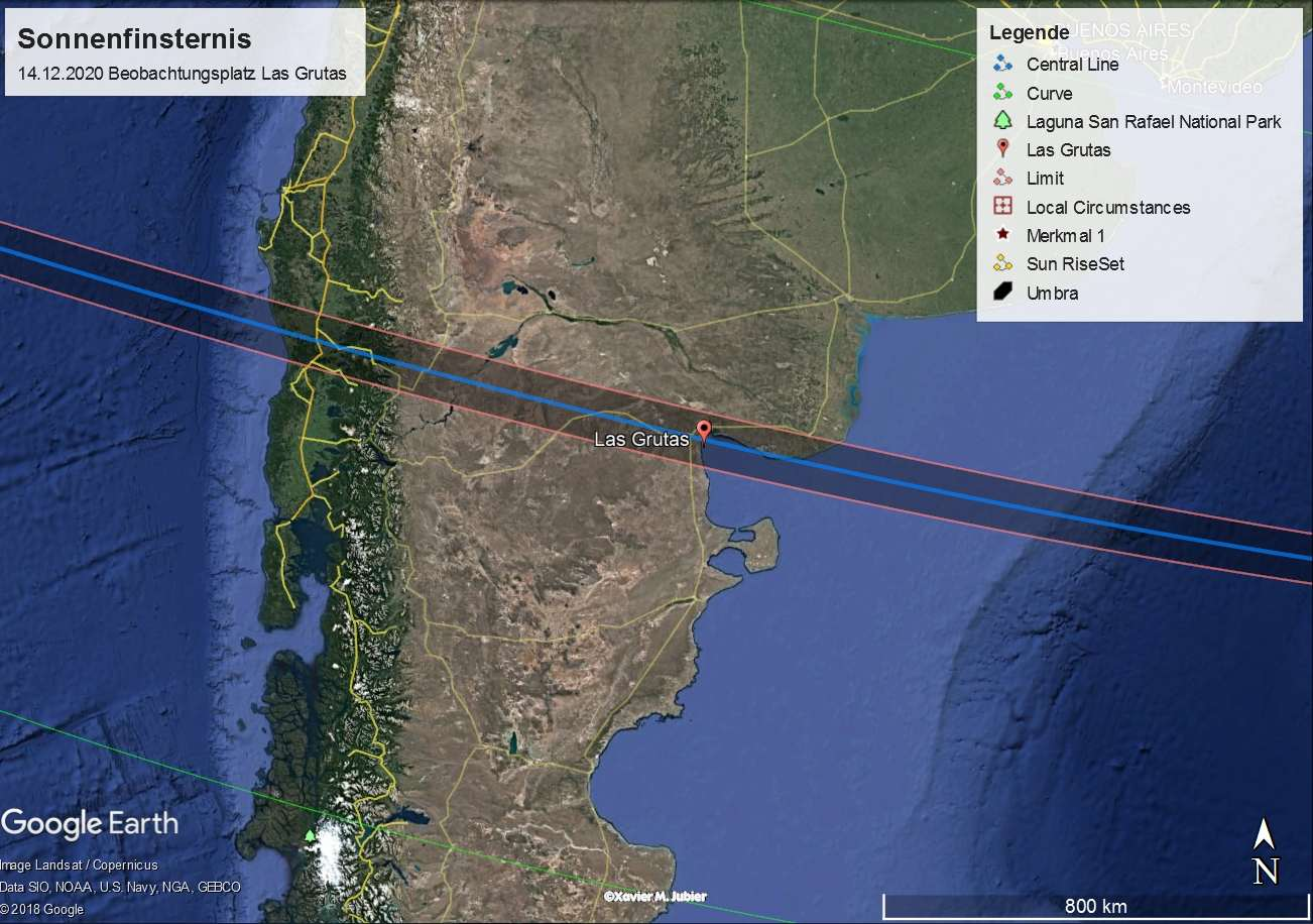 ECLIPSE PFAD CHILE-ARGENTINIEN